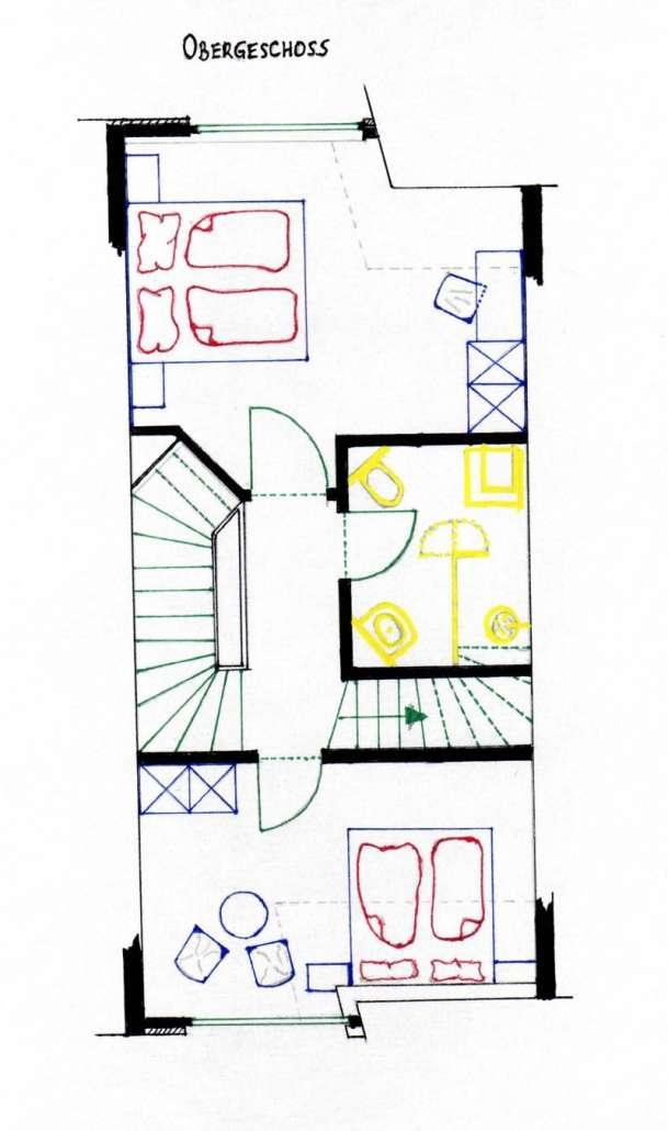 Grundriss Obergeschoss- Ferienhaus Malve 3