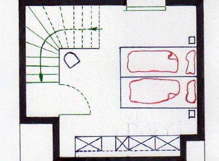 Grundriss Dachstube - Ferienhaus Malve 3